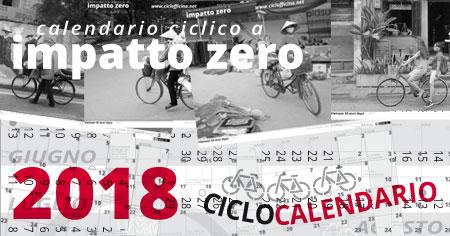 Calendario 2018 a impatto zero & Ciclocalendario